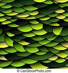 Patrón sin cortes de escamas de serpiente verde
