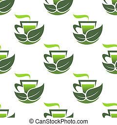 Patrón sin cortes de té orgánico verde