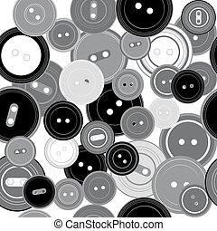 Patrón sin costura con botones