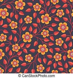 Patrón sin costura con flores decorativas brillantes