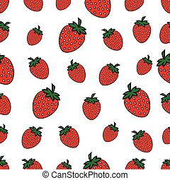 Patrón sin costura con Strawberry
