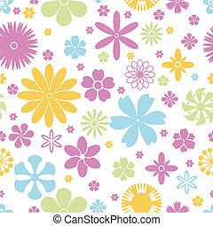 Patrón sin costura de flores de primavera y verano