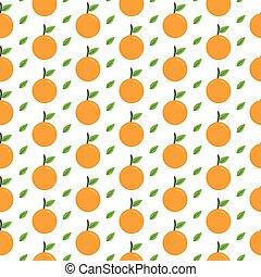 Patrón sin costura de fruta fresca de cítricos