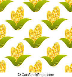 Patrón sin costura de maíz fresco
