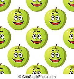 Patrón sin costura de manzanas verdes