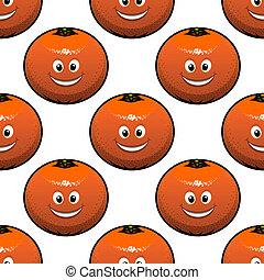 Patrón sin costura de naranjas frutas