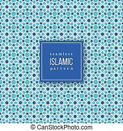 Patrón sin costura en estilo tradicional islámico.