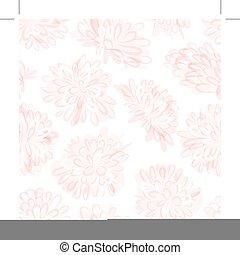Patrón sin costura floral, bosquejo para su diseño