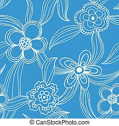 Patrón sin costura floral