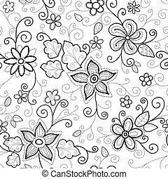 Patrón sin costura floral rayado
