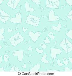 Patrón sin costuras con correo de amor