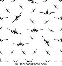 Patrón sin daños con avión