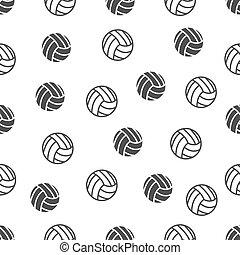Patrón sin daños con voleibol