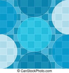 Patrón sin fisuras de círculos azules sobre tablero de control