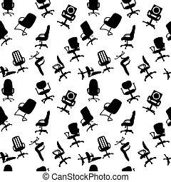 Patrón sin fisuras de sillas de oficinas ilustraciones vectoras