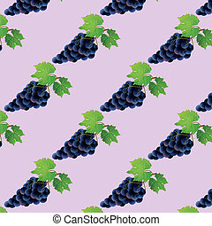 Patrón sin fondo con uva negra