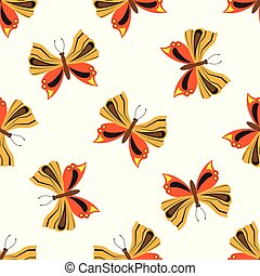 Patrón sin forma con mariposas.