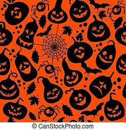 Patrón sin forma de Halloween.
