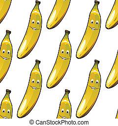 Patrón sin forma de plátanos amarillos maduros