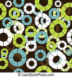Patrón sin forma de retro con círculos