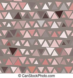 Patrón sin forma de triángulos, fondo marrón. Vector