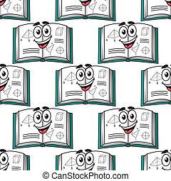 Patrón sin forma de un libro de ciencia feliz