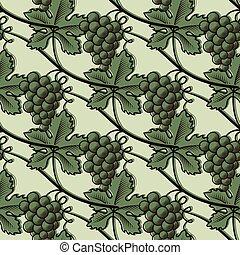 Patrón sin forma de uva verde.