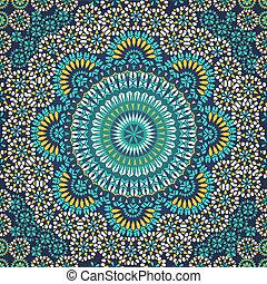 Patrón sin forma en estilo étnico mosaico.