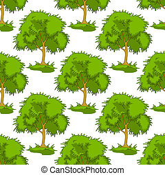 Patrón sin hojas de árboles verdes