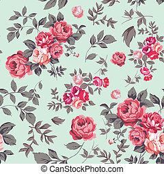 Patrón sin manchas de rosa