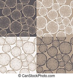 Patrón sin marcas con anillos de árbol. Antecedentes de vector