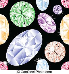 Patrón sin marcas de diamantes