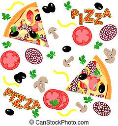 Patrón sin marcas de vector: pizza