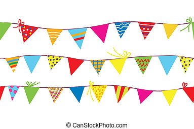 Patrón sin sentido con banderas para niños