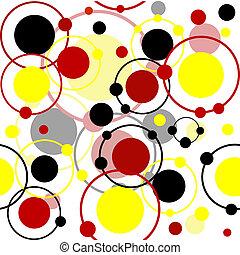 Patrón sin sentido con círculos y puntos