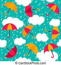Patrón sin sentido con paraguas coloridos