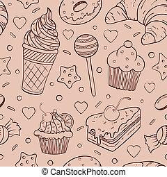 Patrón sin sentido de dulces