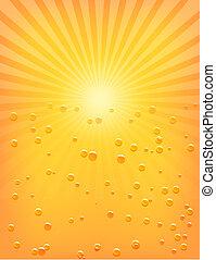 Patrón solar con gotas de agua