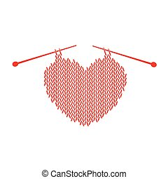 Patrón tejido con corazón