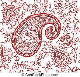 Patrón textil indio