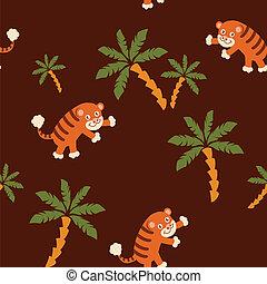 Patrón tigre sin costura