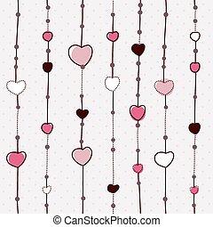 Patrón vector con corazones