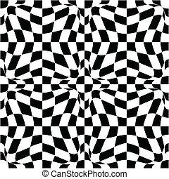 Patrón vector en blanco y negro
