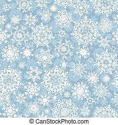 patrón, vector, escamas, seamless, nieve