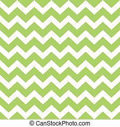 patrón, zigzag, salvaje, aislado, verde blanco