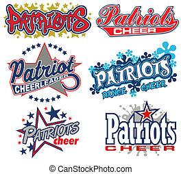 patriotas, aclamación, diseño, colección