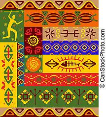 Patrones étnicos y adornos