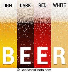 patrones, cerveza, conjunto