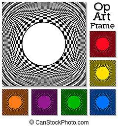 Patrones de diseño de arte con marco