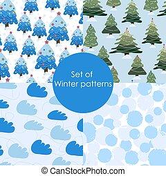 Patrones de invierno. Patrón de Navidad sin costura.